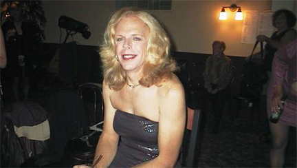 the stunning Robyn Kohler; backstage at the Follies; courtesy of Miqqi Gilbert and Fantasia Fair; October 17, 2001.